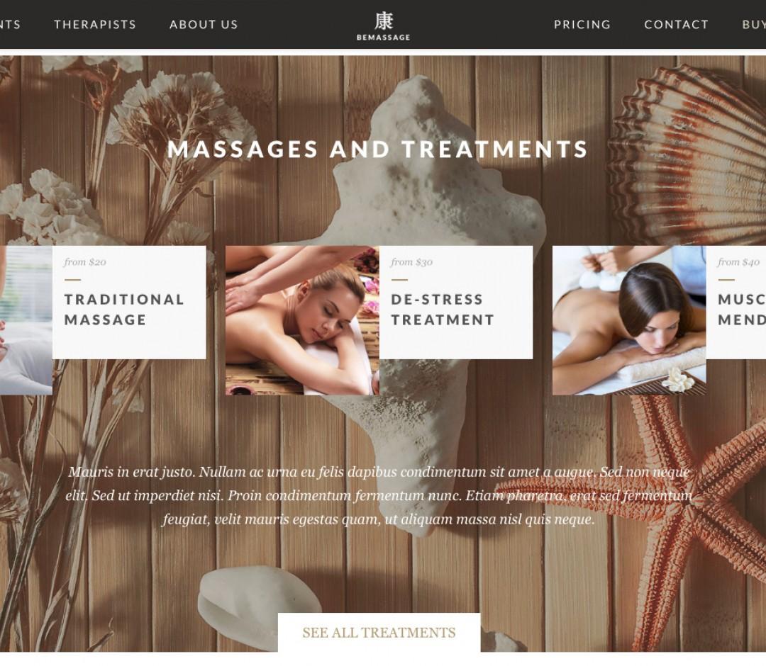 Сайт массажистам