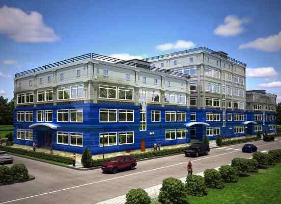 3d визуализация экстерьер, офисное здание