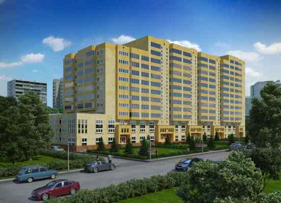 3d визуализация экстерьер, жилой комплекс на улице Вавилова, общий вид