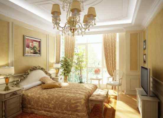 3d визуализация интерьер, спальня