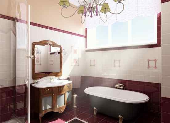 3d визуализация интерьер, уборная, вид на ванну