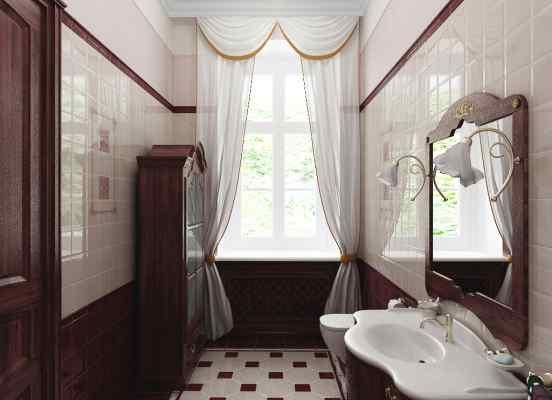 3d визуализация интерьер, ванная комната