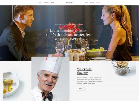 Сайт для ресторана. Шаблон №2